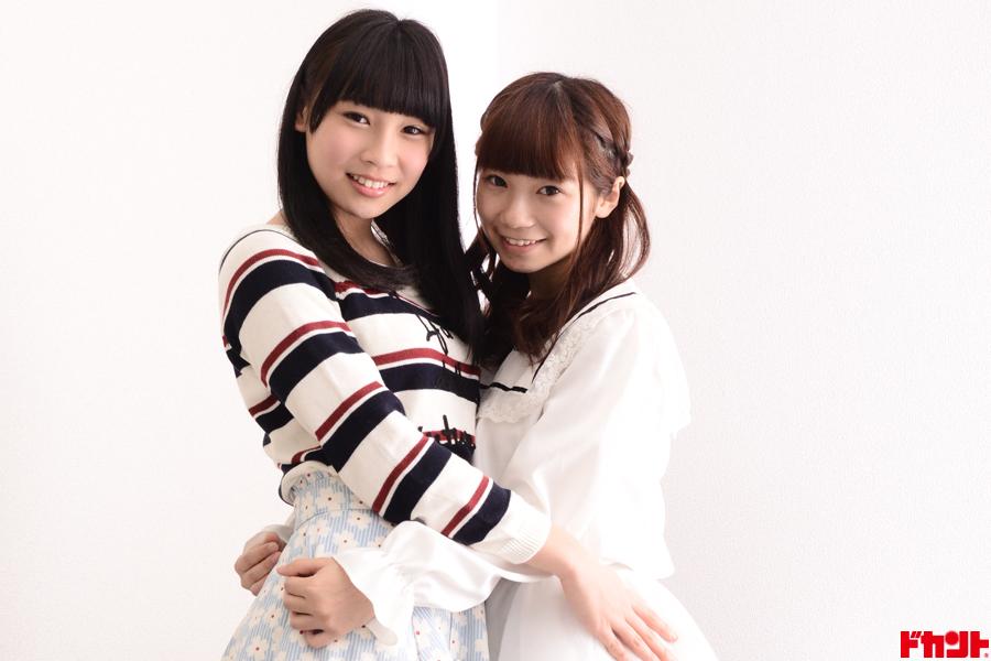 結城ひなの&夏芽ももか スイパス橙&紫担当の2人が仲良くビキニデビュー!!